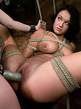 Great Nipples, Girl in first time bondage and domination.
