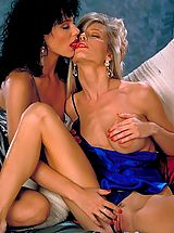 Naked Lesbians, Jeanna Fine's Brunette beauty meets Danielle Rogers' blonde bombshell and legs, legs, legs for miles!!!