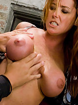 Kink Pics: Glamour model Christina Carter bound, tortured and made to cum.