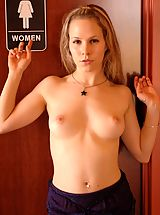 Teens Pics: Fiona Luv plays in the hallway