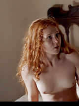 Big Dark Nipples, This redheaded Borgia star can certainly make you engorgia-d!