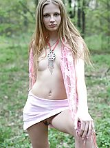 Outdoors Pics: Teen girl in pink