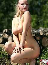 Naked Big.Tits, Hot busty babe eroKatya taking sunbathes