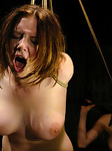 Sexy Nipples, Nineteen year old Sara is put in tight bondage and electrocuted