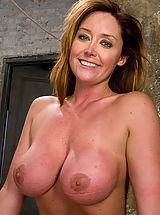 Milf Nippels, Glamour model Christina Carter bound, tortured and made to cum.