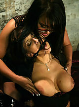 Naked Fetish, Two busty brunettes in BDSM sex action featuring Eva Angelina