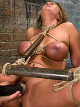 Average Size Nipple, Huge titted blond, bound, punished and force to cum!