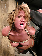 Naked Fetish, Sexy tan Holly Wellin is tied up tight and forced to cum, tickled