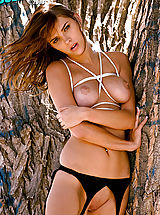 Puffy Nipples, Hot babe Meggan Mallone gets tied and teased!