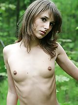 beautiful nipples, Stroll along a forest