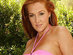 Puffy Tits, Morgan reigns poses poolside for anilos.com