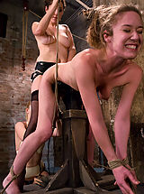 Naked Fetish, Two hot doms gang up on Jade Marx and force her to cum with electricity!!!