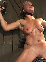 Big Nipples, Dia Zerva and Ariel X on sybians with severe nipple bondage. Bondage sluts are flogged heavy and whipped hard. Nipples cinched tight during orgasms.