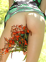 You wont believe your eyes on seeing sweet teen pose outdoors, because her fresh body is so attractive and admirable.