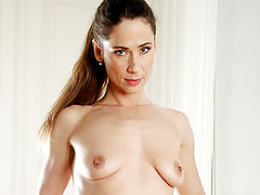 Nipple Sucking, After exercising sensual milf pepper plays with her excited pussy