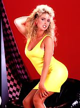 naked blondes, Hot shots of Angela Baron taken July 16, 1987. Lots of flashback outfits, one perfect body, 19 sultry snaps.