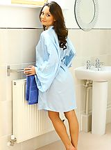 Teens Pics: Carla in a sexy bathrobe only wearing cotton panties