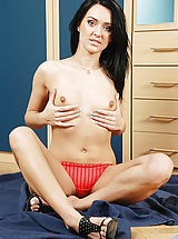 Milf Nippels, Absolutely beautiful mature cougar pleasures her pussy with a long vibrator
