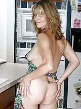 Milf Nippels, Fresh Anilos mom teases her pussy with a mixing spoon after cooking dinner