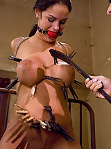 Fetish Nippels, Young and busty girl punished and fucked by dominatrix.