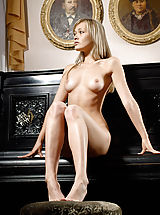 Naked Teens, Sweet Angel on Piano