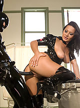 Fetish Nippels, Sandra Romain plays kinky medical games with her latex fuck slave