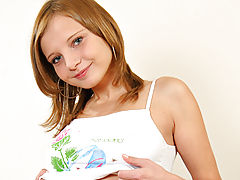 Erect Nipples, Immature lacey poses innocently for nubiles.net.