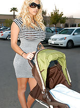 naked tits, Kelly brings home Britney and Ryan doesn't know if to freak out or fuck, he figures it out and fucks them on the baby stroller.