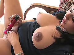 Hard Nipples,s, Julie fucks her new dildo