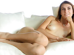 skinny naked, Thena nude on the couch