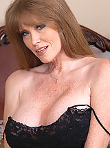 Puffy Boobs, Busty redhead MILF fucks her son's friend and his big cock.