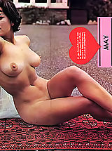 naked asian, Enormous photo collection of naked vintage women with big boobs and natural hairy cunts posing for money