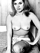 naked chick, Retro Style Porn