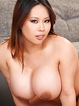 tender nipples, Tigerr Benson strips, diddles andplays with her huge tits