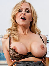 Hard Nipples, Hot blonde teacher with big breasts loves rough sex on her desk.