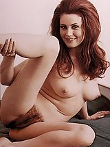 naked girls, Hairy seventies girls showing of their fur