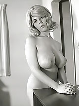 Areola Pictures, Exclusive Vintage Erotica Photos of a Big Busty Porn Queen of 1960s Owner of Enormous Pair of Fucking Breasts
