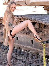 FTV Girls Nippels, Fiona Luv gets naughty at a construction site