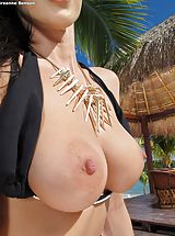 Aerolos, Bare Sexy Adulteress 947 Breanne Benson shows those tremendous boobs