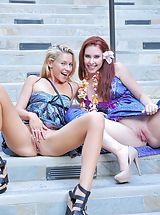 Naked FTV Girls, Lena and Melody Public Fun