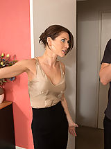 Large Areolas, Gorgeous babe Jenni Lee is horny and decides to cheat on her boyfriend with his son!