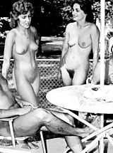 A View into Modern Naturism Life and a Flashback into the Sixties When Girls Had Big Bushes and Sexy Hair Style