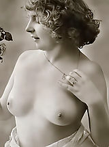 naked girls, Very rare genuine vintage erotic postcards of 1910's featuring women that never ever swallowed cum and still pure