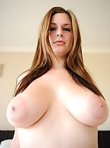 Naked Big.Tits, Danielle plays on her bed