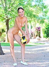 FTV Girls Pics: Valerie plays naked in a park