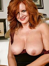 Why do girls nipples get hard, Naughty 30+ Mom reveals her properly exercised vagina Andi James Voluptuous Redhead