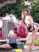 Suze Randall Nippels, A sizzling redhead knows how to ride in style.