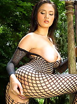 Naked Asian, Asian Women annie chui 09 forest bodystocking hanging