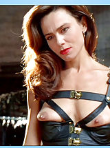 Giant Areola, Slinky brunette decked in leather