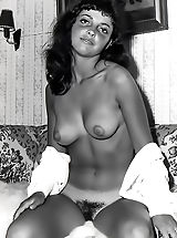 Retro Clothing, Nylons and Unshaven Pussies Are Gorgeous on the Historic Models with Their Big Natural Breasts in the Bare